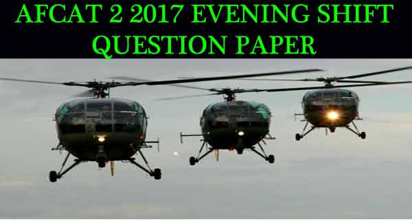 AFCAT 2 2017 Questiona and Answers