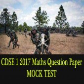 UPSC CDS 1 2017 Maths Original Question Paper for practice