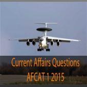 AFCAT 1 2015 Current Affairs question paper