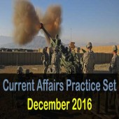 December 2016 Current Affairs Mock Test