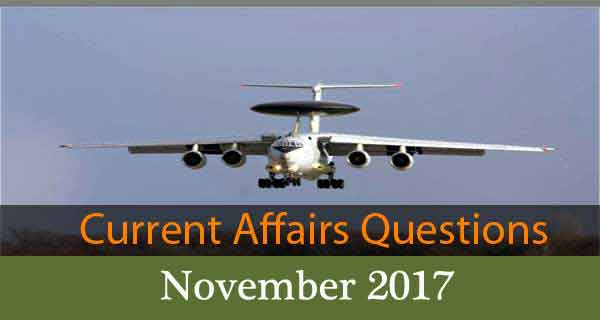 Online Current Affairs Mock Test - November 2017