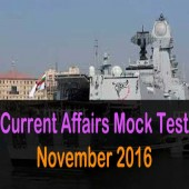 November 2016 current affairs mock test