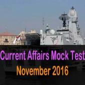 Mock test of November 2016 current affairs