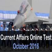 October 2016 current affairs online mock test