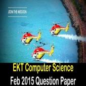 EKT 1 2015 Computer Science Question Paper