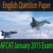 English questions of AFCAT January 2015 exam