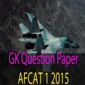 AFCAT 1 2015 GK Question Paper