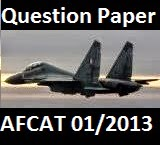 image of AFCAT question paper