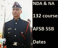 image of SSB interview dates of AFSB for 132 NDA course