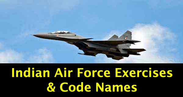 IAF Joint Exercises with Other Countries and Code names