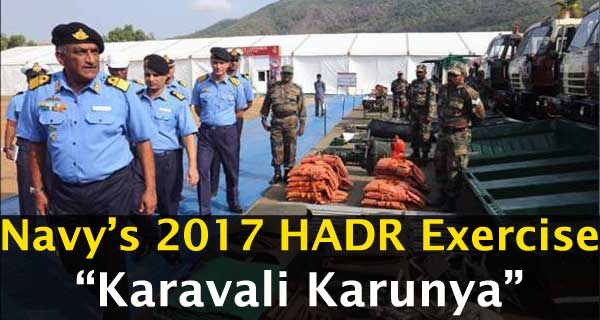 Defence Current Affairs: HADR Exercise Being Conducted by Indian Navy in Karwar