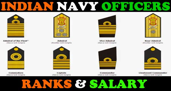 Indian Navy officers salary and ranks