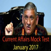 January 2017 current affairs mock test