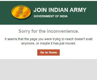 joinindianarmy.nic.in not opening