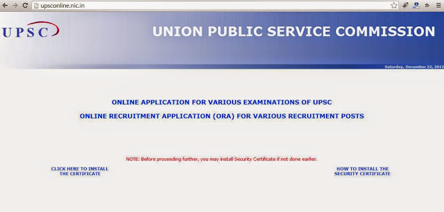 Login to UPSC website to apply for NDA