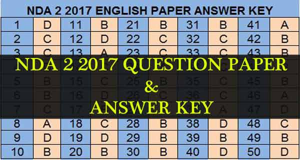 Nda question paper and answer key of nda 2 2017 exam nda 2 2017 exam question paper and answers malvernweather Image collections