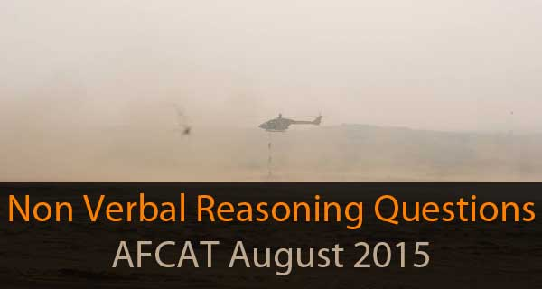 Non Verbal Reasoning questions of AFCAT August 2015