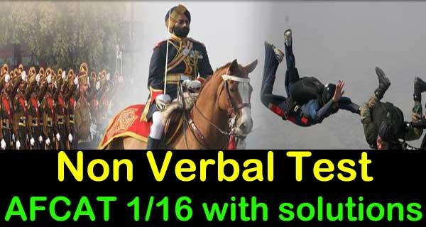 AFCAT 1 2016 Non verbal reasoning questions practice