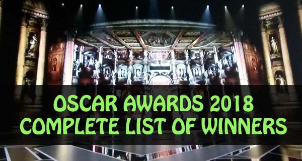 Complete list of winners and nominees of Oscar Awards 2018