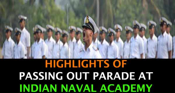 Passing Out Parade Held at Indian Naval Academy on 27th May 2017