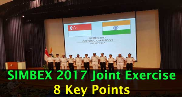 India-Singapore Navies Begin SIMBEX 2017 at Singapore: 8 Key Points