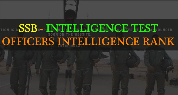 Intelligence test or OIR of SSB interview