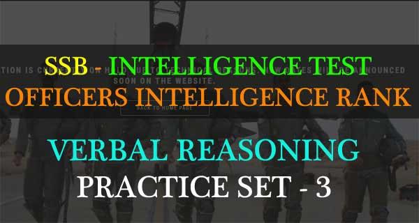 OIR Verbal Reasoning Practice Set