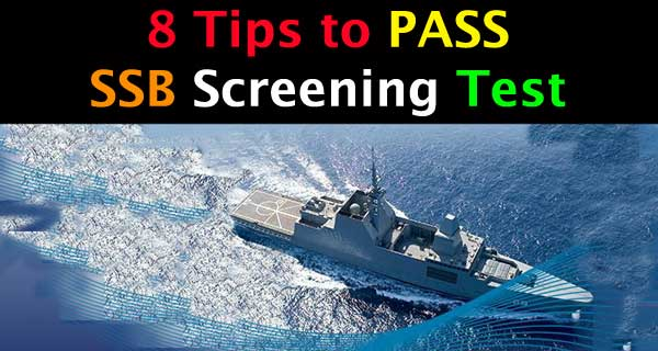 SSB Stage 1 Screening test and 8 tips to pass