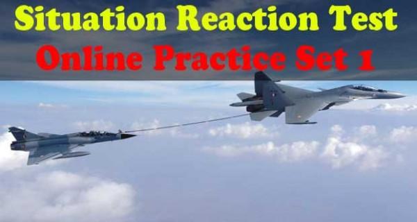 SSB Situation Reaction Test Online Practice Set