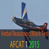 Verbal reasoning questions of AFCAT 1 2015 exam