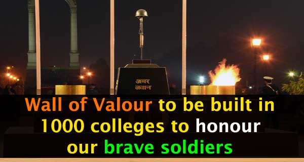 'Wall of Valour' to Come Up in Universities and Colleges to Honour Soldiers